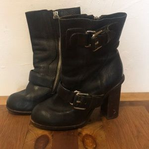 Theory motorcycle booties- size 36